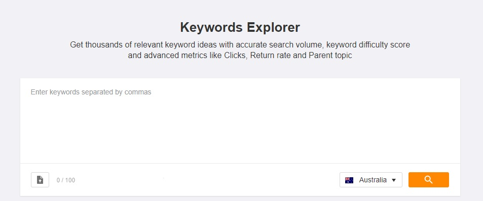 ahrefs keyword research strategy planner tool